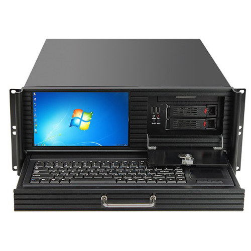 Q-452 Industrial Computer case with touchscreen and keyboard